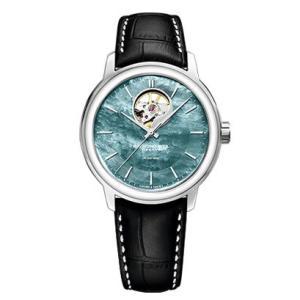 RAYMOND WEIL レイモンド・ウェイル マエストロ オープンハート ブラックマザーオブパール 自動巻き メンズ腕時計 クロコ型押しカーフ 2227-STC-97201  |quelleheure-1