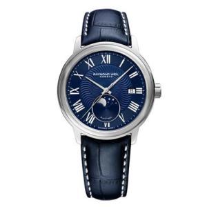 RAYMOND WEIL レイモンド・ウェイル マエストロ ムーンフェイズ 自動巻き メンズ腕時計 クロコ型押しカーフ 2239-STC-00509  |quelleheure-1