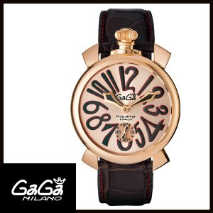 5011.11S GAGA MILANO ガガミラノ  MANUALE 48MM  マニュアーレ 48mm GOLD PLATED メンズ腕時計 国内正規品 送料無料  |quelleheure-1