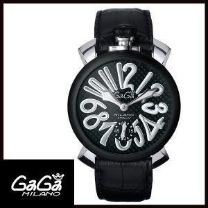 5013.01S GAGA MILANO ガガミラノ  MANUALE 48MM  マニュアーレ 48mm ブラックPVD/カーボン メンズ腕時計 国内正規品 送料無料  |quelleheure-1