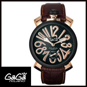 5014.01S GAGA MILANO ガガミラノ  MANUALE 48MM  マニュアーレ 48mm ブラックPVD/カーボン メンズ腕時計 国内正規品 送料無料  |quelleheure-1