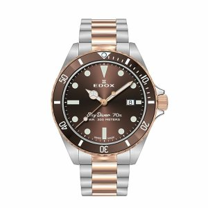 正規品 EDOX エドックス SKY DIVER DATE スカイダイバー デイト クォーツ メンズ腕時計 53017-357RBRM-BRI quelleheure-1
