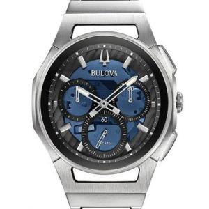 国内正規品 BULOVA ブローバ CURV カーブ クロノグラフ メンズ腕時計 クォーツ 送料無料 96A205  |quelleheure-1