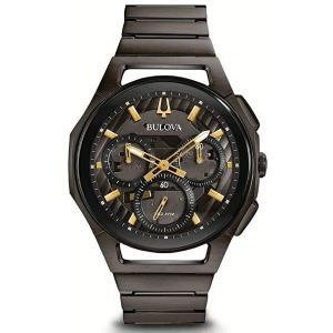 国内正規品 BULOVA ブローバ CURV カーブ クロノグラフ メンズ腕時計 ハイパフォーマンスクォーツ 送料無料 98A206  |quelleheure-1