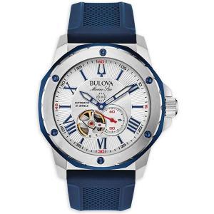 正規品 BULOVA ブローバ マリンスター 自動巻き メンズ腕時計 98A225 ラッピング無料|quelleheure-1