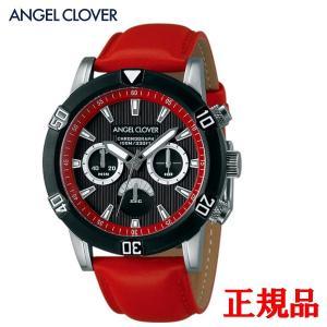 正規品 ANGEL CLOVER エンジェルクローバー Brio メンズ腕時計 クォーツ クロノグラフ 送料無料 BR43BBK-RE quelleheure-1