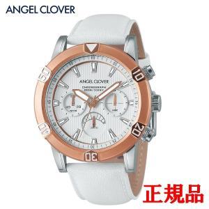 正規品 ANGEL CLOVER エンジェルクローバー Brio メンズ腕時計 クォーツ クロノグラフ 送料無料 BR43PWH-WH quelleheure-1