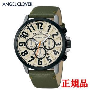 正規品 ANGEL CLOVER エンジェルクローバー Bump メンズ腕時計 クォーツ クロノグラフ 送料無料 BU44BIV-GR quelleheure-1