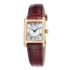 国内正規品 FREDERIQUE CONSTANT フレデリックコンスタント クラシック カレ レディース腕時計 ダイヤ クォーツ腕時計 カーフレザー FC-200MCD14   quelleheure-1