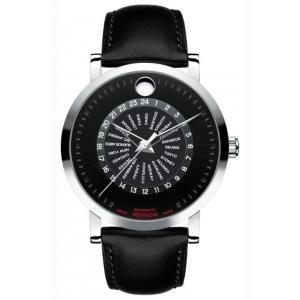 MOVADO モバード レッドレーベル ワールドタイマー 自動巻き メンズ腕時計 M89.910.2893.3L  |quelleheure-1