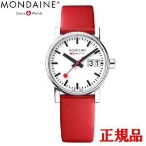 正規品 MONDAINE モンディーン クォーツ エヴォ2 ビッグデイト 30mm レッド レディース腕時計 送料無料 MSE30210LC|quelleheure-1