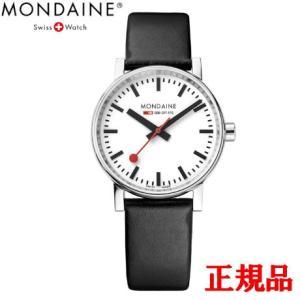 正規品 MONDAINE モンディーン クォーツ エヴォ2 35mm ブラック メンズ腕時計 送料無料 MSE35110LB|quelleheure-1