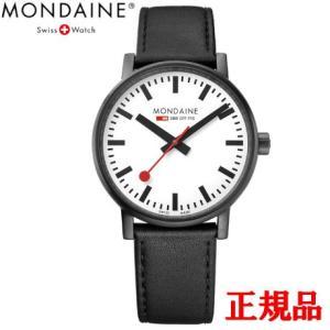 正規品 MONDAINE モンディーン クォーツ エヴォ2 40mm ホワイトxブラックステッチ メンズ腕時計 送料無料 MSE40111LB|quelleheure-1