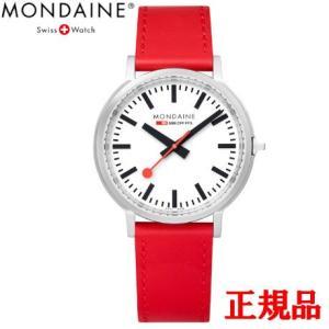 正規品 MONDAINE モンディーン クォーツ stop2go 2017 レッド メンズ腕時計 送料無料 MST4101BLC|quelleheure-1