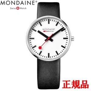正規品 MONDAINE モンディーン クォーツ ジャイアント バックライト 42mm ブラック ユニセックス腕時計 送料無料 MSX4211BLB|quelleheure-1