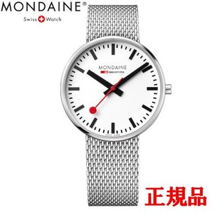 正規品 MONDAINE モンディーン クォーツ ジャイアント バックライト 42mm メッシュ ユニセックス腕時計 送料無料 MSX4211BSM|quelleheure-1
