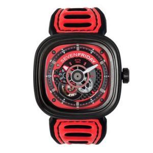 SEVENFRIDAY セブンフライデー Pシリーズ Red 自動巻き メンズ腕時計 SF-P3B/06  |quelleheure-1