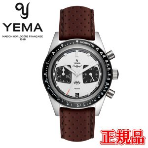 正規品 YEMA イエマ ラリーグラフ パンダ クォーツ メンズ腕時計 クロノグラフ レザー YMHF1572-BU|quelleheure-1
