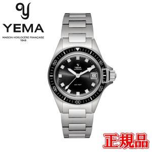 正規品 YEMA イエマ スーパーマン ヘリテージ ブラック クォーツ メンズ腕時計 YMHF1574-AM|quelleheure-1
