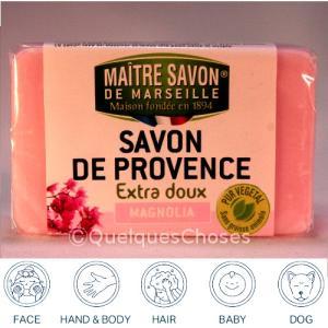 マルセイユ石鹸 マグノリア 100g クーポンで50円値引き! 6個までネコポス発送|quelqueschoses|02