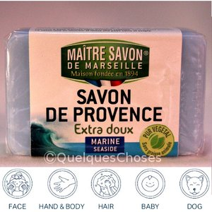 マルセイユ石鹸 マリン  100g  クーポンで50円値引き!3個までメール便|quelqueschoses|02