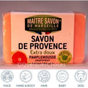 マルセイユ石鹸 グレープフルーツ  100g クーポンで50円値引き! 3個までメール便|quelqueschoses|02