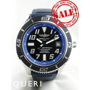 ブライトリングスーパーオーシャン42黒×青A17364(A1...