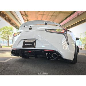 レクサス LC500/500h クワッドエキゾーストチップ カーボン|questpower