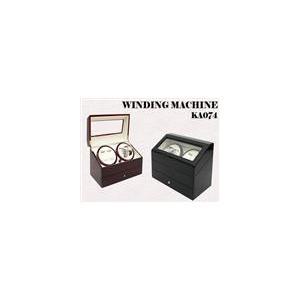 ●ワインダー/ワインディングマシーン 4本巻き  KA074 ブラック ● 【送料無料】