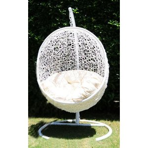 ●ハンギングチェア 球型 真っ白●CH/SL-04WW 組立...