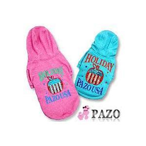 ●PAZO Holiday スパンコール付き フードトレーナー ピンク XS●|quick-mart