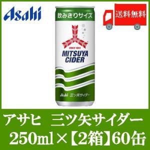 サイダー 缶 アサヒ飲料 三ツ矢サイダー 250ml×60本 送料無料 ポイント消化 クイックファクトリー