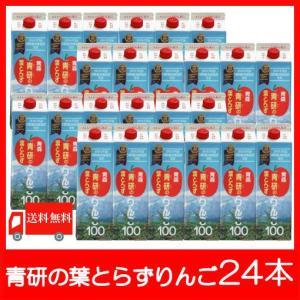 青森りんごジュース 青研 葉とらずりんごジュース 1000ml×24本 送料無料|クイックファクトリー