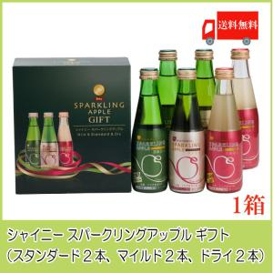 青森りんごジュース ギフト シャイニー スパークリングアップル 詰合せ 3種×各2本 SP-B 送料...
