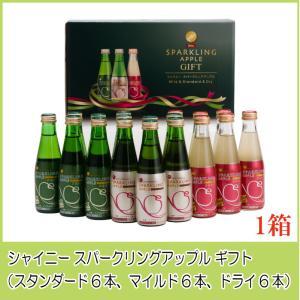 青森りんごジュース ギフト シャイニー スパークリングアップル 詰合せ 3種×各6本 SP-A
