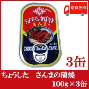 送料無料 ちょうした さんまの蒲焼 100g × 3缶 quickfactory