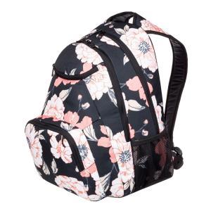 華やかなプリントが女性らしい雰囲気を漂わせる、マチが広めで見ためよりも収納力に優れたバックパックです...