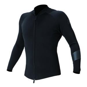 フロントファスナー ロングスリーブジャケット。型紙は日本製で、安心の着用感と運動性抜群のジャパンフィ...