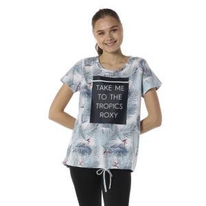 タウンユースもできるおしゃれなデザインが魅力のスクエアグラフィックプリント半袖Tシャツです。腰周りを...