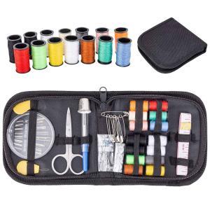裁縫セット ポータブルソーイングセット 携帯式 12色縫い糸 指ぬき 待ち針 手縫い針 糸通し ひも通し ミシンアクセサリー|quo-shop