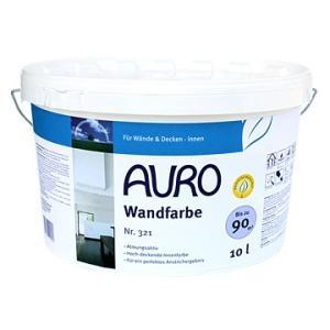 【送料無料・あすつく対象商品】ママでも出来た!と〜っても安全な漆喰風の白壁塗料 AURO(アウロ) No.321 天然ウォールペイント 10L|quofirm