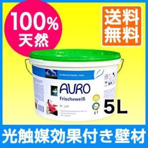 壁が空気をキレイにする!?漆喰風の白壁塗料 AURO(アウロ) No.328 光触媒効果付 天然ウォールペイント 5L quofirm