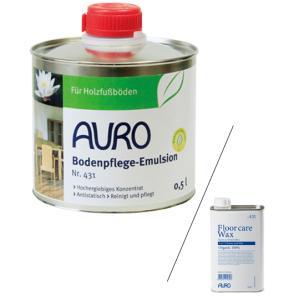 AURO(アウロ) No.431 天然床ワックス(清掃用) 0.5L缶 【送料無料・あすつく対象】|quofirm