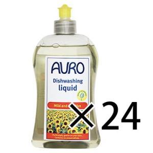 【送料無料・あすつく対象】手荒れでお悩みの方、使ってみて下さい。<br> AURO(アウロ) No.453 天然食器用洗剤 500mボトル 24本セット|quofirm