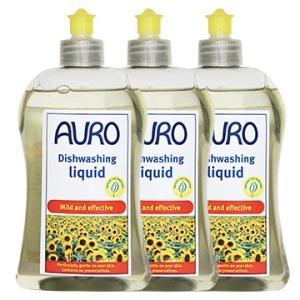 【あすつく対象】手荒れでお悩みの方、使ってみて下さい。<br> AURO(アウロ) No.453 天然食器用洗剤 500mボトル 3本セット|quofirm