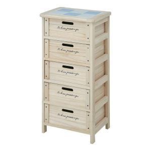 収納ボックス 引き出し 収納家具 リビング キッチン 収納 チェスト 安い 北欧 おしゃれ 5段 奥行30cm 木製 キッチン収納 幅40 洗面所 天板|quoli