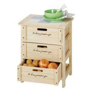 収納ボックス 引き出し 収納家具 リビング キッチン 収納 チェスト 安い 北欧 おしゃれ 3段 奥行30cm 木製 キッチン収納 幅40 洗面所 天板|quoli