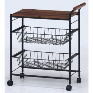 キッチンワゴン キャスター付き 2段 テーブル 天板 木製 スリム おしゃれ 作業台 安い コンパクト キッチン ワゴン 幅30 ロータイプ アイアン|quoli