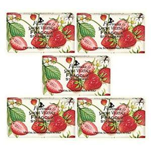 フロリンダ フレグランスソープ 固形石けん フルーツの香り ストロベリー 95g×5個セット|r-ainet