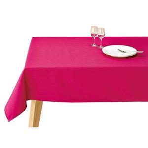 テーブルクロス ブルーミング中西 デリシャスカラー 撥水加工 (日本製) 長方形 無地 洗濯機で洗える 4人用テーブル向け ビーツ (ピンク|r-ainet